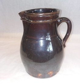 "Stoneware Batter Pitcher, 8.5"", c.1900"
