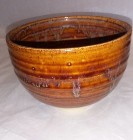 "Brown Pottery Planter, 6 1/8""x 4 5/8"""