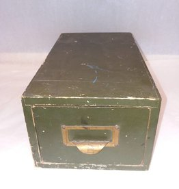 Wooden File Box, O.D. Green