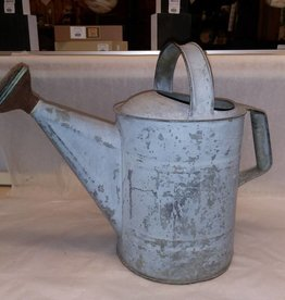 Galvanized Tin Watering Can w/Spray Head, 8 Qt., 1950's