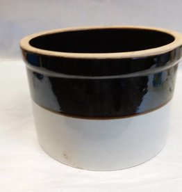 Brown & White Crock, 2 Gallon, E.1900's