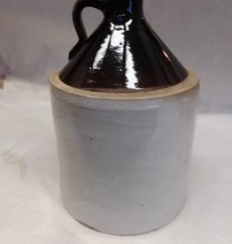 Brown & White Jug, 1 Gallon, c.1900