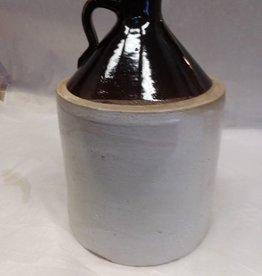 Brown & White Jug, 1 Gallon, c.1900