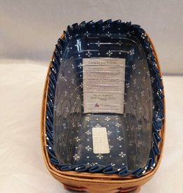 "Small Vegetable Longaberger Basket w/Liner. 9.75"" x6.5"" x7"""