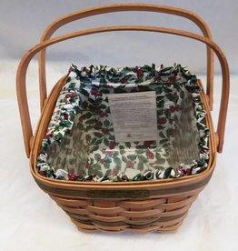 "Longaberger Cranberry Basket w/Liner, 8.5""x 7.5"", 1995"