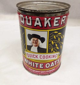 "Quaker White Oats Tin, 3 5/8"" x 5 1/8"", 1956-1960"