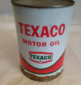 Texaco Motor Oil Can-Full, 1 Quart, L.1960's