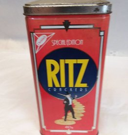 "Ritz Bisquits Tin, 4 3/8"" x 8 3/4"", 1990"