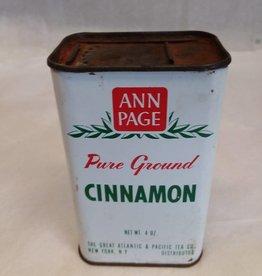 Ann Page Cinnamon Tin, 4 oz. c.1950
