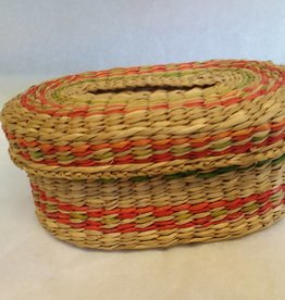 "Oval Sweetgrass Basket, 6.25""x 4.25"" x 2.75"", 1980's"