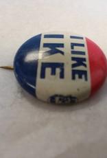 """I Like Ike Political Pin, 1"""", 1950's"""