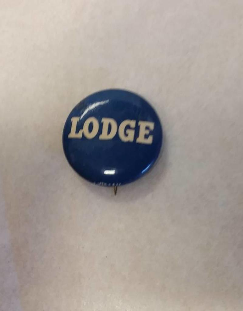 "Lodge Political Pin, 1952, 7/8"" Diameter"
