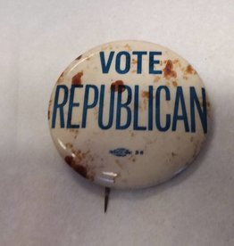 "Vote Republican Political Pin, 1950's, 2.25"" Diameter"