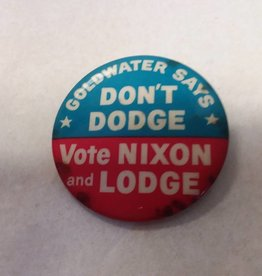 "Vote Nixon and Lodge Political Pin, 1960, 1.75"" Diameter"