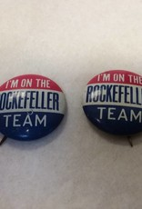 "Rockefeller Political Pin, 7/8"", 1964"