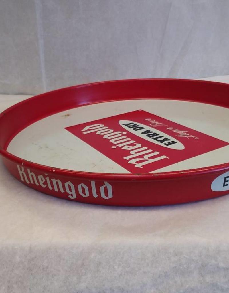 "Rheingold Extra Dry Lager Beer Tray, 12"" x 1.25"", c.1970"