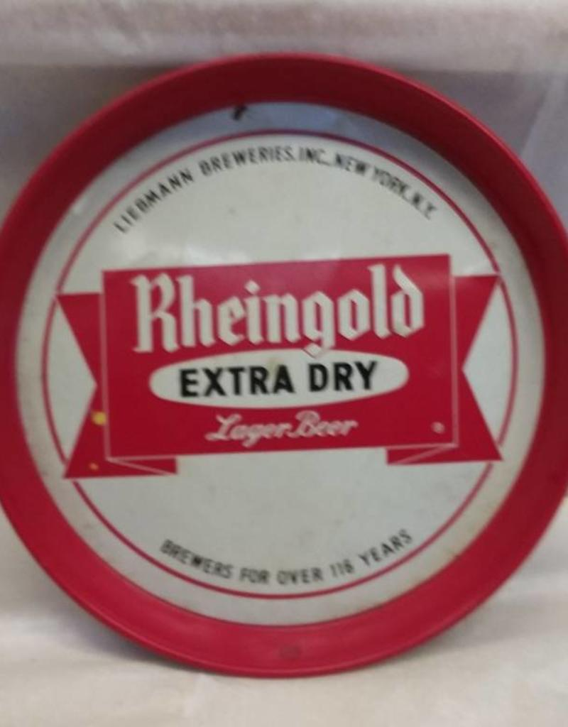 """Rheingold ED Lager, 116 Years, 12"""" x 1.25"""", c. 1960's"""