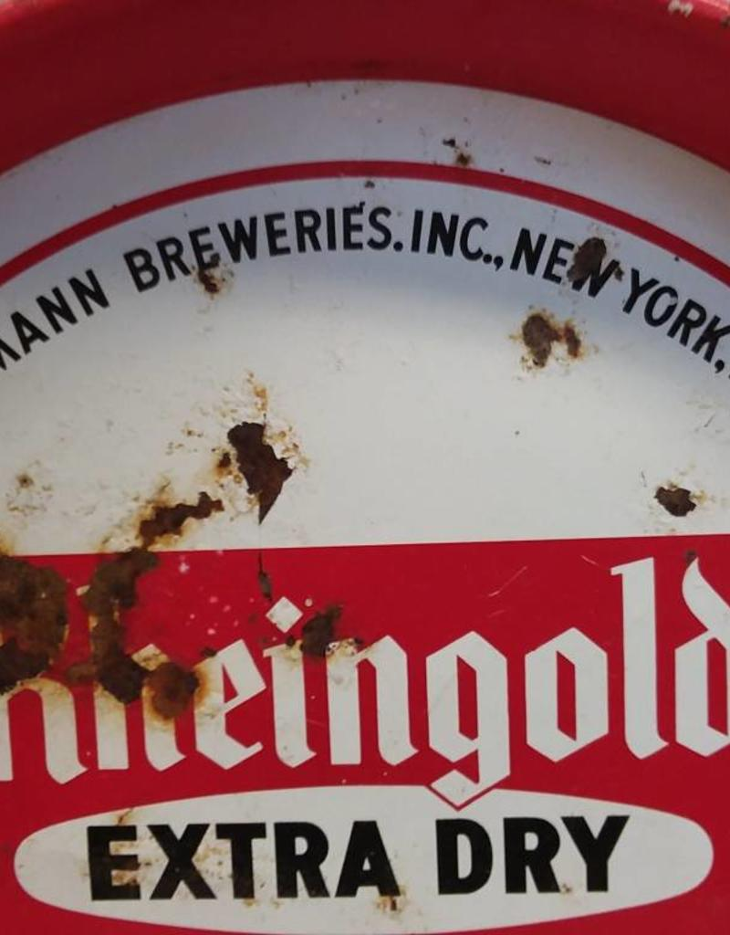 """Rheingold ED Lager Beer Tray, 119 Years, 12"""" x 1.215"""", m.1960's"""