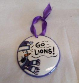 "Go Lions Ornament, 3 3/8"""