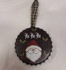 "Metal Bottlecap Ornament, 4"""