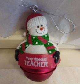 Special Teacher Bell Ornament