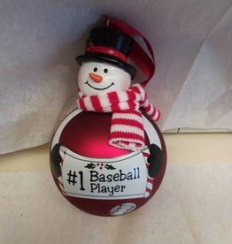 #1 Baseball Player Ornament