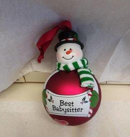 Best Babysitter Ornament