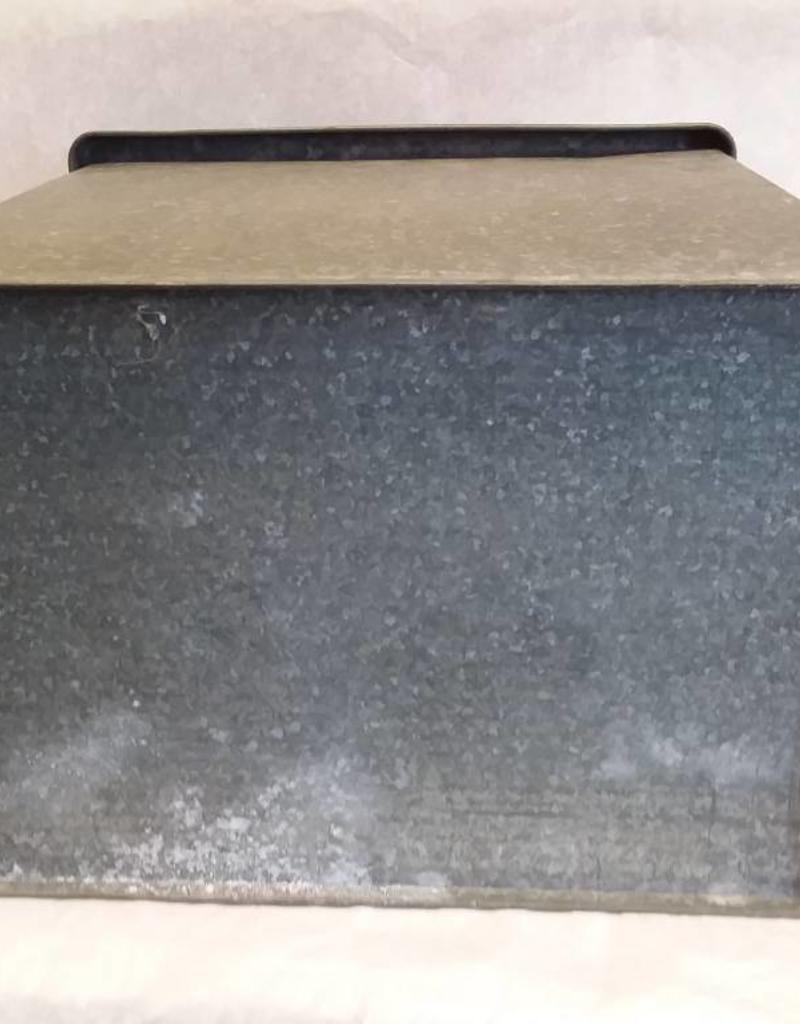 "Vintage Galvanized Porch Box, 12""x9""x11"", c.1950"