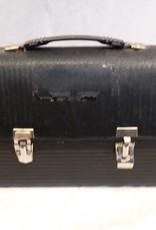 "Victory Black Metal Lunchbox, No Thermos, 10.25x5x8.25"", c.1950"