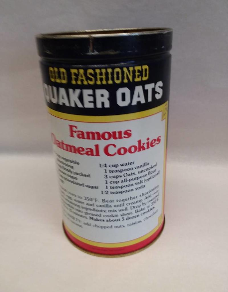 "Quaker Oats Repro. Tin, 4.25""x7.5"", 1982"