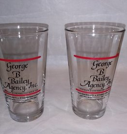 George B. Bailey Agency, Inc. Beer Glass, 1 Pint, Pre-2013