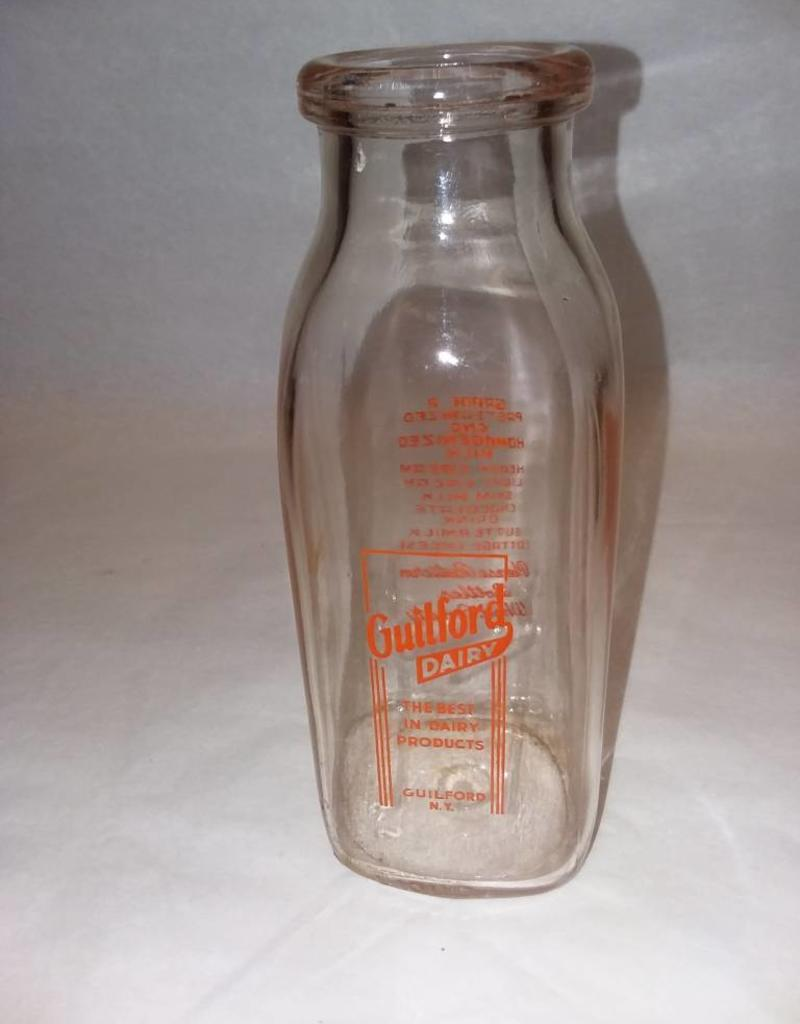 Guilford Dairy Milk Bottle, 1 Pint