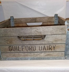 Guilford Dairy Milk Crate, 1940's or 50's