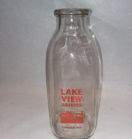 Lake View Dairies Milk Bottle, 1 Quart