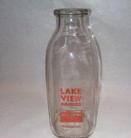 Lake View Dairies Milk Bottle, 1 Quart