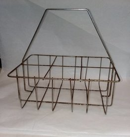 "6 Compartment Milk Bottle Carrier, 11""x7.5""x10.5"", c.1950"