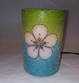 Mod Flower Grn & Blue
