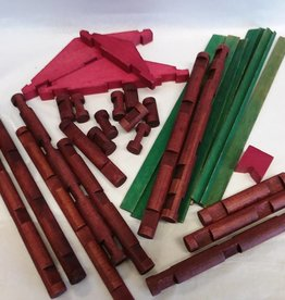 Lincoln Logs, Set 6-CF, Orig'l Canister, c.1950's, Over 220 pces.