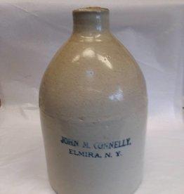 John M. Connelly,Elmira N.Y. 1 Gallon Stoneware Jug, c.1890's