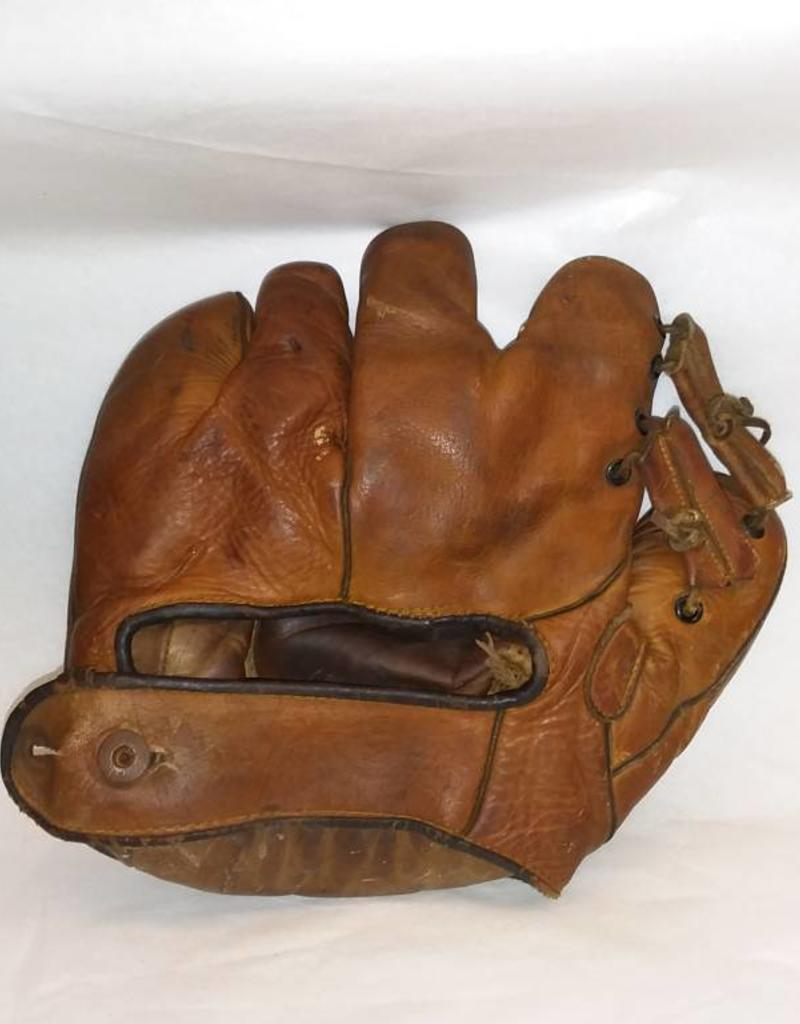 Antique Leather Baseball Glove w/Joined Fingers. Some Wear, No Tears, Complete. Circa 1910