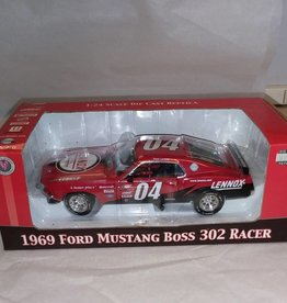 1969 Ford Mustang Boss 302 Racer, 1:24 Scale Replica, 2004