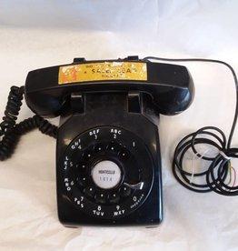 Rotary Dial Black Telephone, 1959