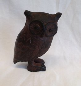 "Cast Iron Owl, 5"" Tall"