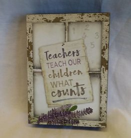 "Teacher window box sign, 5""x7""x1.5"""