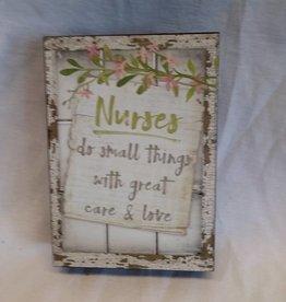 """Nurses window box sign, 5""""x7""""x1.5"""""""