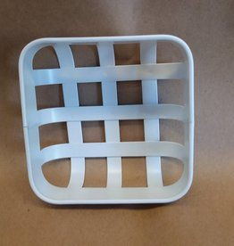 "Napkin Tray White Metal Basket, 5""x2"""