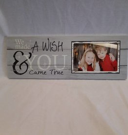 "Wish Came True Picture Frame. 15.5""x5.5""x.75"""