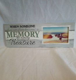 "Memory Become A Treasure Picture Frame, 15.5""x5.5""x.75"""