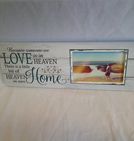 "Love Is In Heaven...Home Picture Frame, 15.5""x5.5""x.75"""