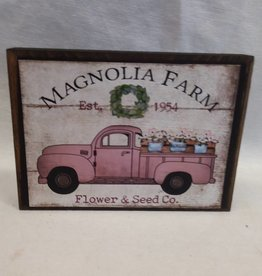 "Magnolia Farm Truck Block Sign, 5.5""x4""x1"""